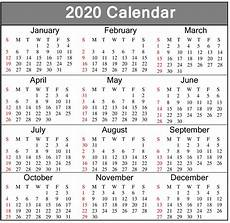 2020 Calendar Pdf Calendar 2020 Template In Word Excel And Pdf For