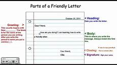 Example Of A Short Friendly Letter Writing A Friendly Letter Youtube