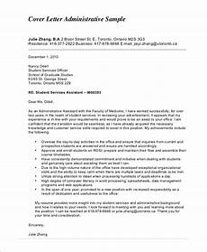 Cover Letter Example For Assistant Free 5 Sample Cover Letter For Administrative Assistant