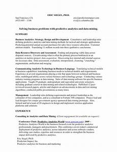 Resume Incomplete Degree Resume For Work In Predictive Analytics