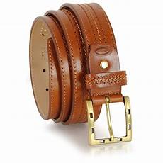 pelle vacchetta cintura classica in pelle vacchetta cognac fibbia offone