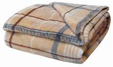 tartan check luxury fleece soft warm thick plush blanket