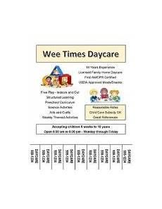 Daycare Ad Daycare Marketing How To Advertise Your Daycare