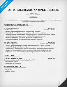 Automotive Cv Search Results For Printable Auto Mechanic Resumes