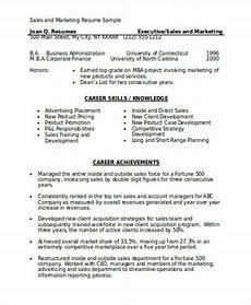 Sales Marketing Resume Sample Marketing Resume Format Template 7 Free Word Pdf