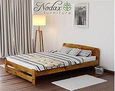 new solid wooden pine bed frame quot one quot with plywood slats