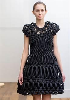 sculptural fashion macrame dress creative fashion