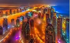 Dubai Night Lights Download Wallpapers Dubai Uae Bright Colored City Lights