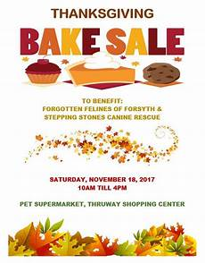 Thanksgiving Bake Sale Stepping Stones Canine Rescue