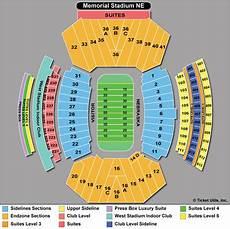 Memorial Chart Nebraska Football Tickets Buy 2016 Cornhuskers Tickets