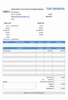 Invoice Example South Africa South Africa Tax Invoice Template Sales