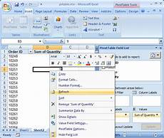 Refresh Chart In Excel Vba Ms Excel 2007 How To Refresh A Pivot Table