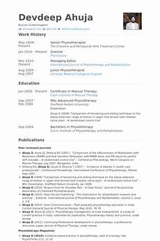 Physiotherapy Resume Sample Physiotherapist Resume Samples Amp Templates With Images