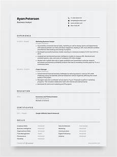 Totally Free Resume Builder And Download Modern Minimalistic Customizable Resume Template