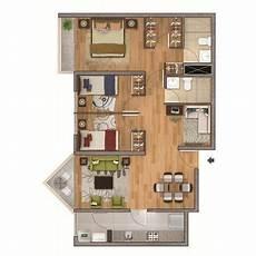 plano de departamento de 75m2 san miguel casas