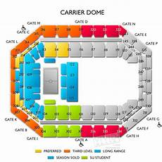 Seating Chart Carrier Dome Football Carrier Dome Tickets Carrier Dome Seating Chart Vivid
