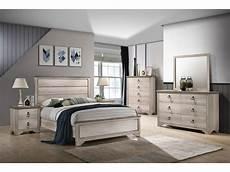 Coastal Bedroom Furniture Patterson Coastal Distressed Panel Bedroom Set