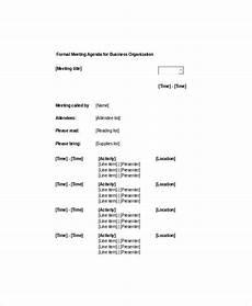 Informal Meeting Agenda 9 Formal Meeting Agenda Templates Pdf Doc Free