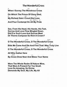 At The Cross Chord Chart Calam 233 O The Wonderful Cross By Chris Tomlin And Matt