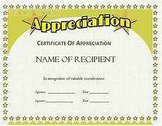 Free Template For Certificate Of Recognition Certificate Of Appreciation Template Free Download Task