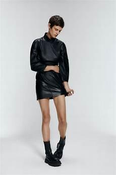 faldas kort vestido mini drapeado piel