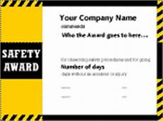 Safety Award Certificate Template 12 Images Of Safety Award Certificate Template Free