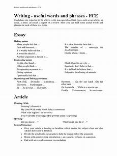 Essay Phrases Writing Useful Words And Phrases Fce Essays Phrase