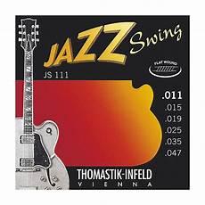 Light Gauge Flatwound Guitar Strings Thomastik Js111 Light Flatwound Jazz Swing Electric Guitar