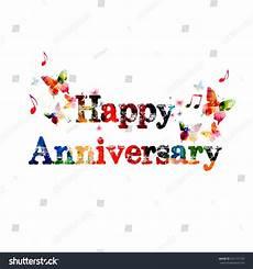 Happy Anniversary Design Colorful Happy Anniversary Design Stock Vector 241191103