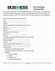Blank Business Plan Template Sba Blank Business Plan Form Free Download