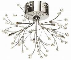 Multi Cord Light Fitting Pair Of Modern Silver Chrome 5 Way Multi Arm Ceiling Light