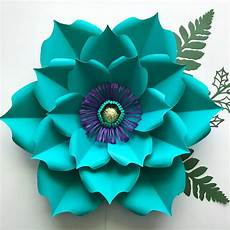 Paper Flower Template Pdf Petal 5 Printable Paper Flowers Template For Trace And