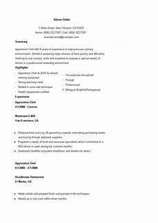 Apprentice Chef Resume Apprentice Cook Cv Templates At Allbusinesstemplates Com