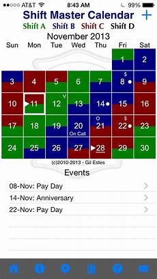 Shift Calendar Shift Master Shift Calendar Ios
