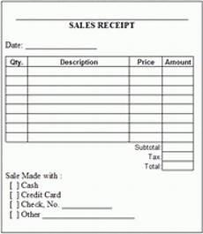 Generic Receipt Form 6 Free Sales Receipt Templates Excel Pdf Formats