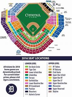 Detroit Tigers Seating Chart With Rows Season Tickets Detroit Tigers