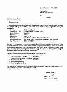 contoh surat lamaran kerja pdf gawe cv