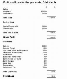 Examples Of Profit And Loss Profit And Loss Statement P Amp L Account Example And Template