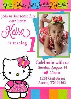 Birthday Invitaiton Hello Kitty Birthday Invitations Ideas Free Printable