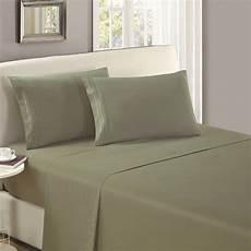 mellanni flat sheet cal king olive green brushed