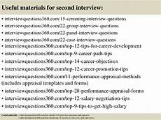 Questions For A Second Interview Top 10 Second Interview Questions And Answers