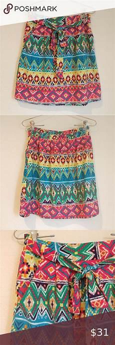 Aztec Design Skirts Emmelee Colorful Aztec Skirt In 2020 Aztec Skirt