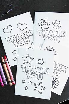 Make Thank You Cards Free Free Printable Thank You Cards For Kids To Color Amp Send