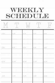Weekly Schdule 12x36 Weekly Schedule Over The Big Moon