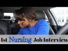 My First Interview My First Nursing Job Interview Youtube