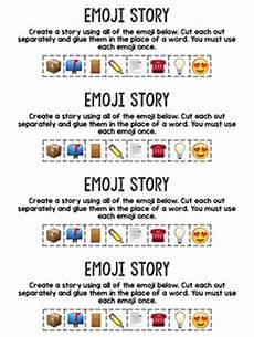 Stories Using Emojis Emoji Story A Writing Prompt Using Emoji Fifth Grade
