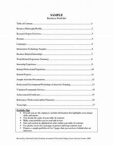 Samples Of Career Portfolios Career Portfolio Examples Sample Business Career