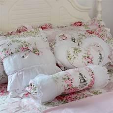 fadfay pink floral throw pillows