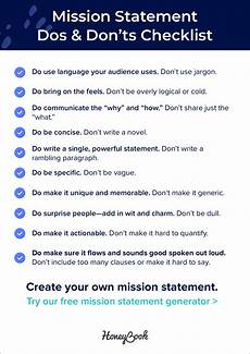 How Do You Write A Personal Mission Statement 25 Powerful Mission Statement Examples That Make Good