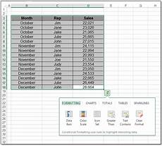 Quick Analysis Tool Excel Excel Enthusiasts Excel 2013 Quick Analysis Tool